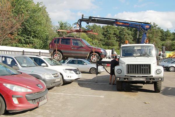 эвакуации автомобиля